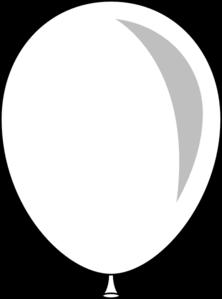 Balloon clipart single. Black and white panda