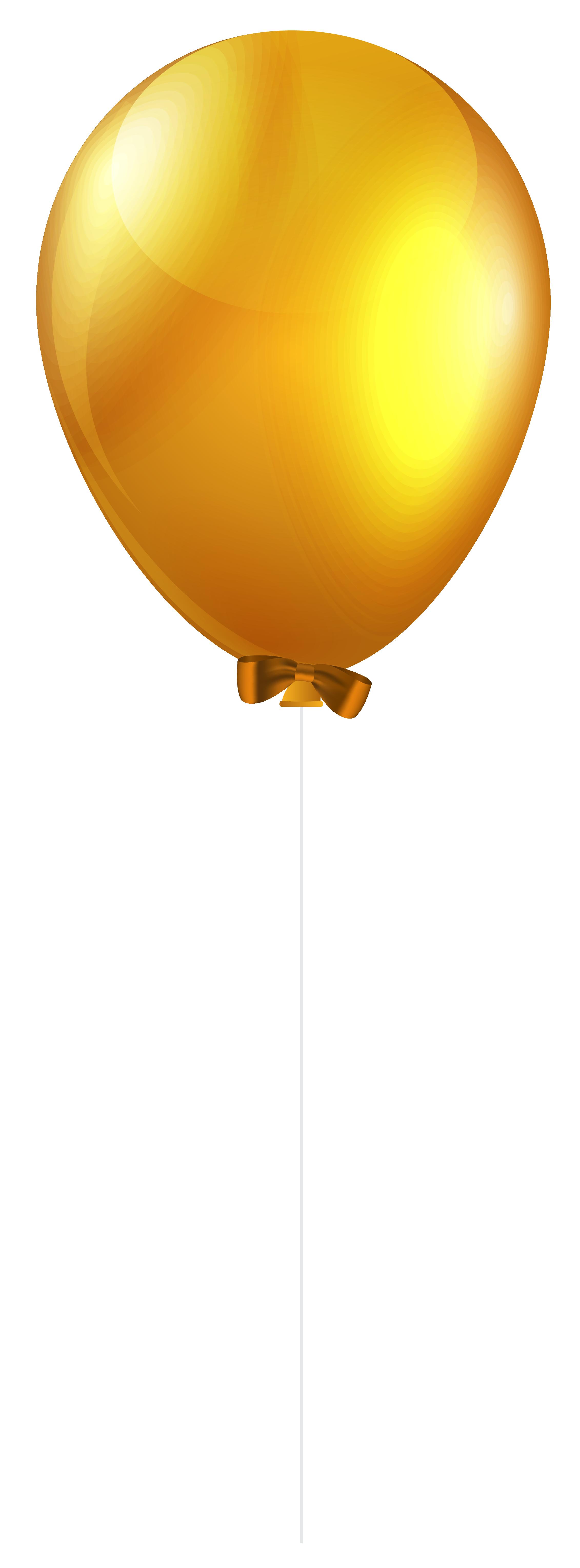Clipart balloon spring. Yellow single png clip