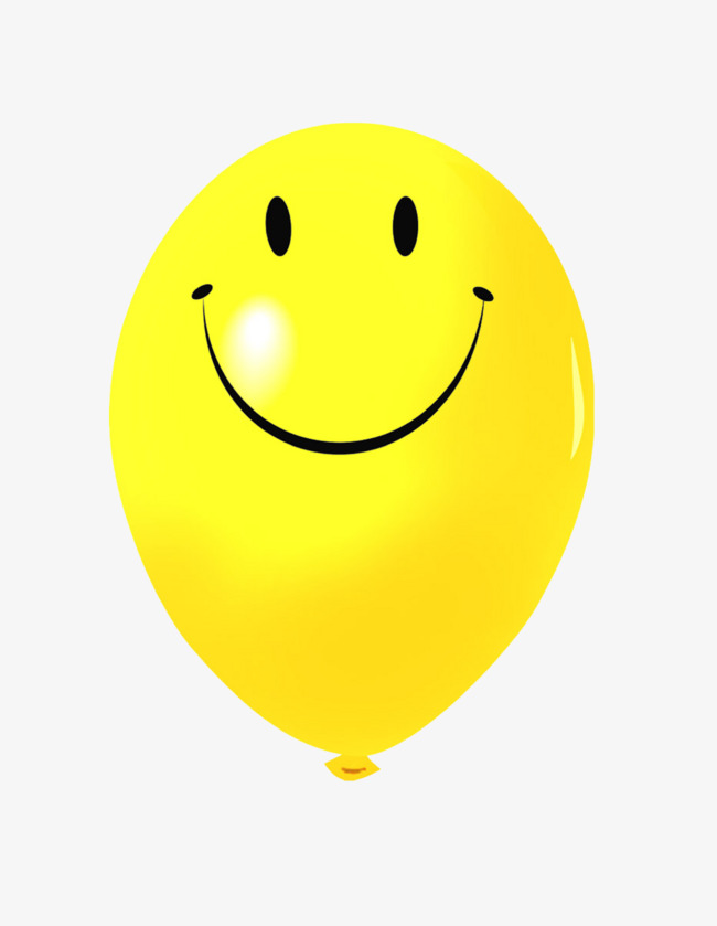 Balloons clipart smiley face. Smiling yellow balloon png