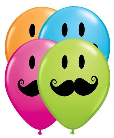 Ballon clipart smiley face. Mustache latex balloons jeckaroonie