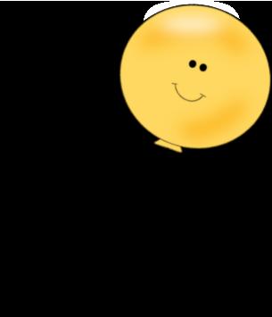 Balloon clip art image. Ballon clipart smiley face
