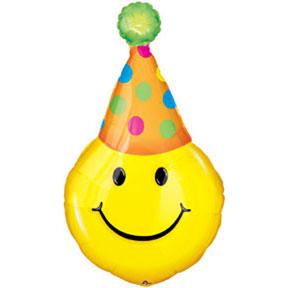 Bulk juvenile bday shaped. Ballon clipart smiley face