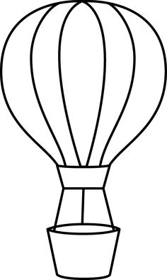 Basket clipart balloon. Black and white striped
