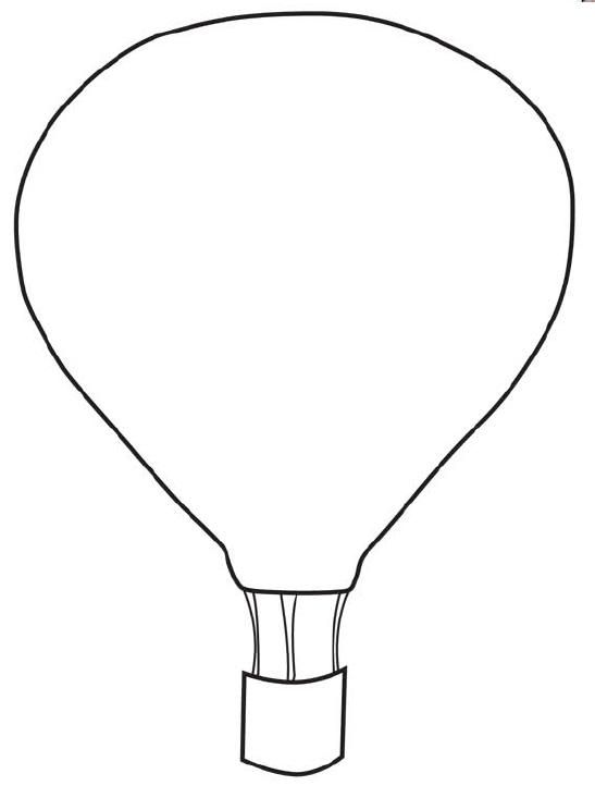 Balloons clipart template. Free printable hot air