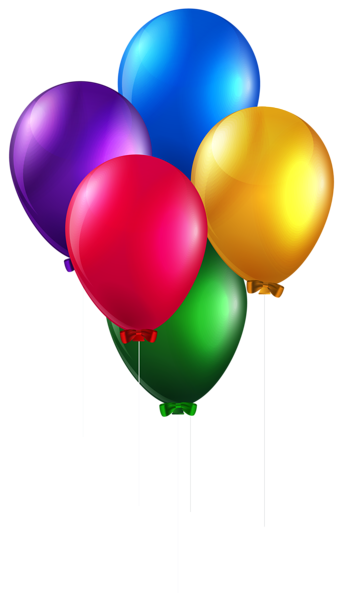 Clipart balloons clear background. Colorful png clip art