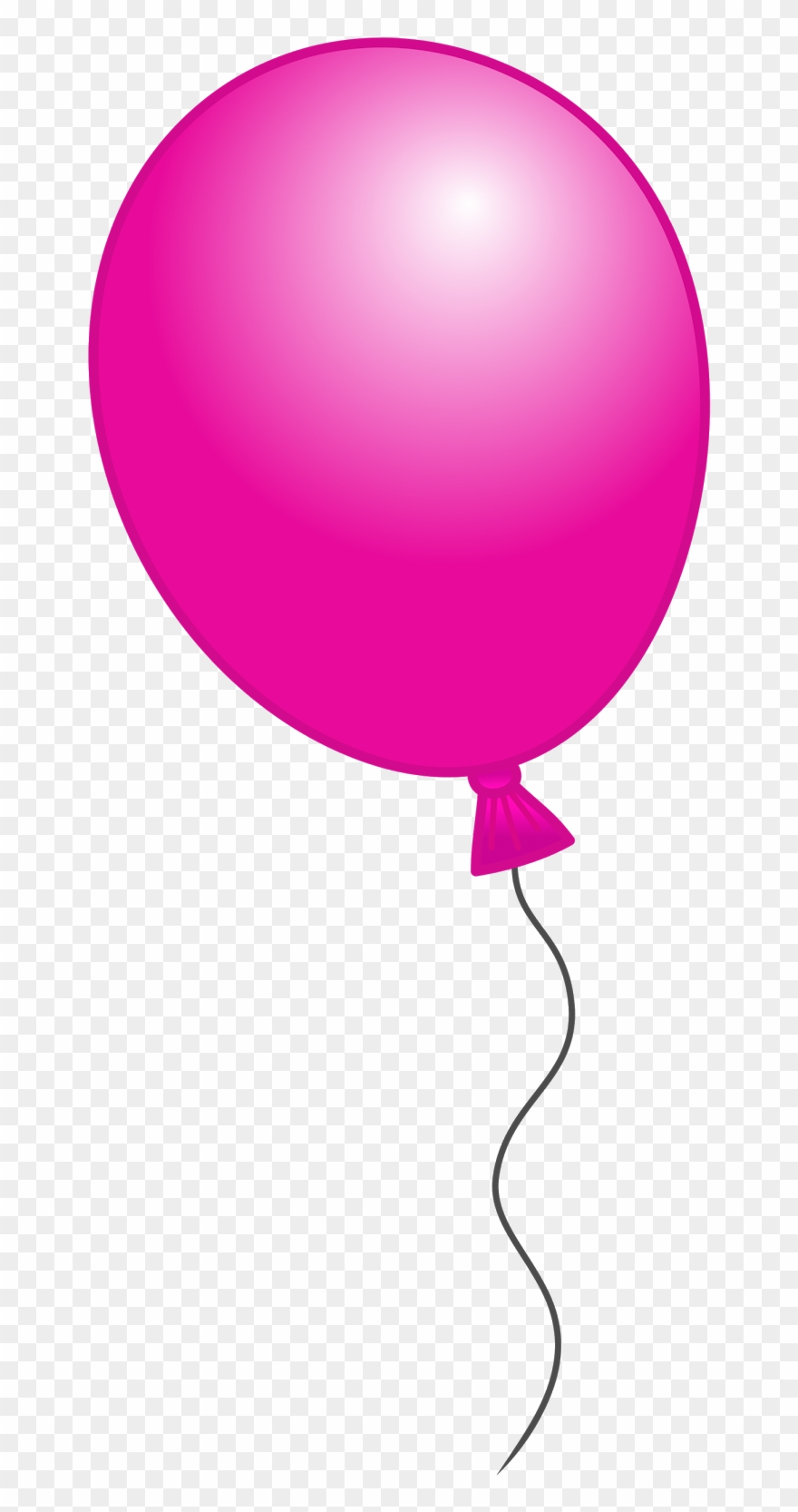 Free clip art pink. Balloon clipart transparent background