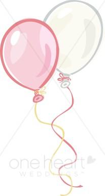 Two balloons. Balloon clipart wedding