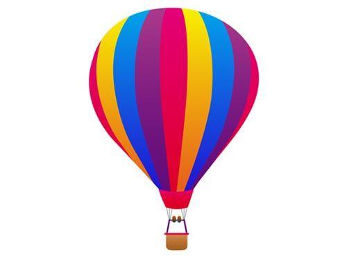 Hot air clip art. Balloon clipart vector