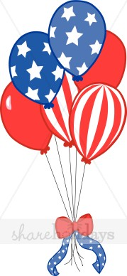 Independence day balloons th. Clipart balloon 4th july