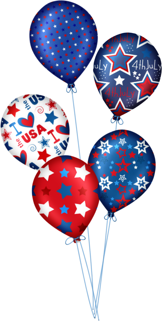 Clipart balloon 4th july. Happy de julho clip