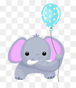Balloon clipart baby elephant. Infant shower seeing pink