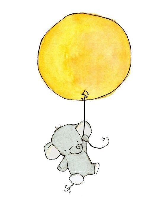 Image jpg art pinterest. Balloon clipart baby elephant