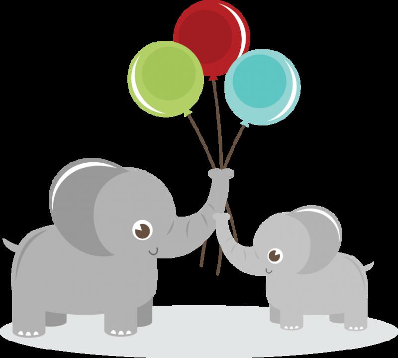 Clipart trees elephant. Elephants holding balloons svg