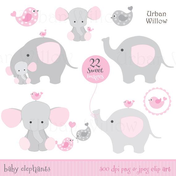 Girl elephants clip art. Balloon clipart baby elephant
