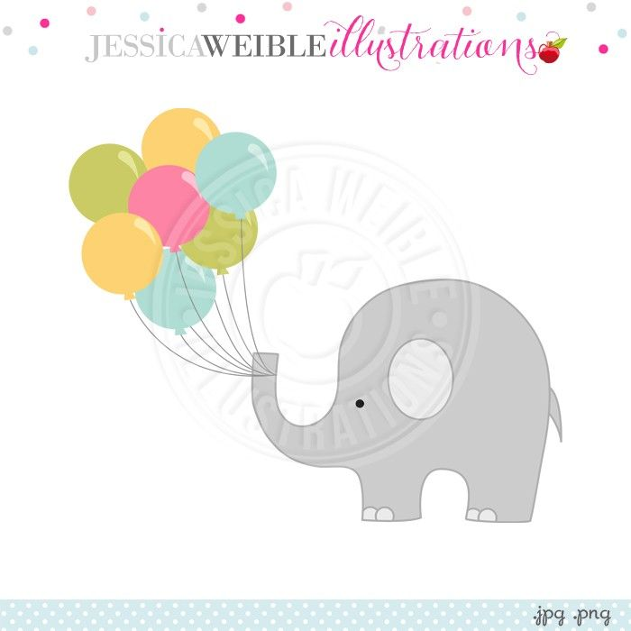 best cute images. Balloon clipart baby elephant