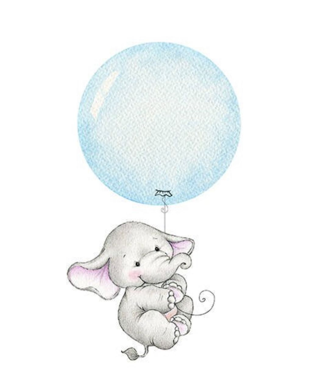 Tattoo in drawing . Balloon clipart baby elephant
