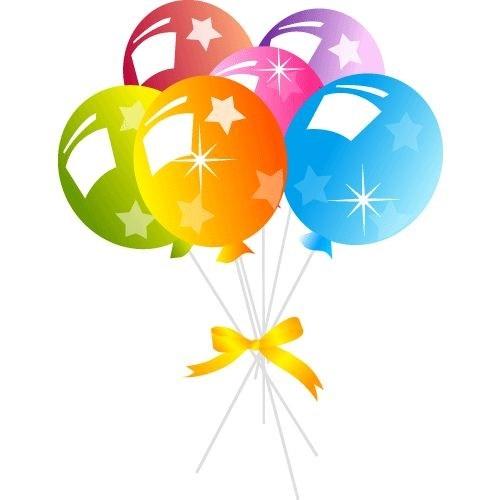 Balloon clipart ballon. Birthday balloons no background