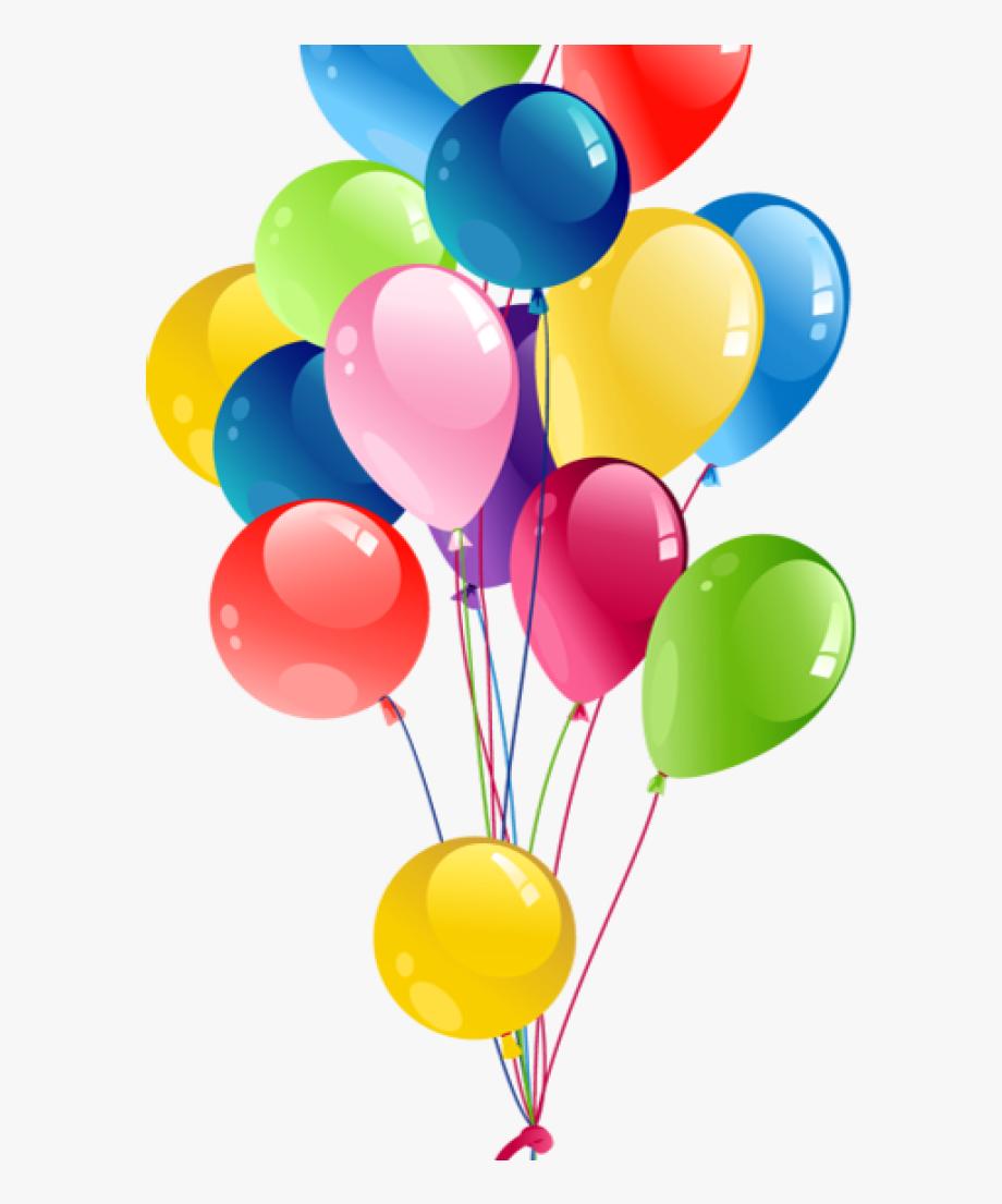 Birthday balloons transparent bunch. Balloon clipart ballon