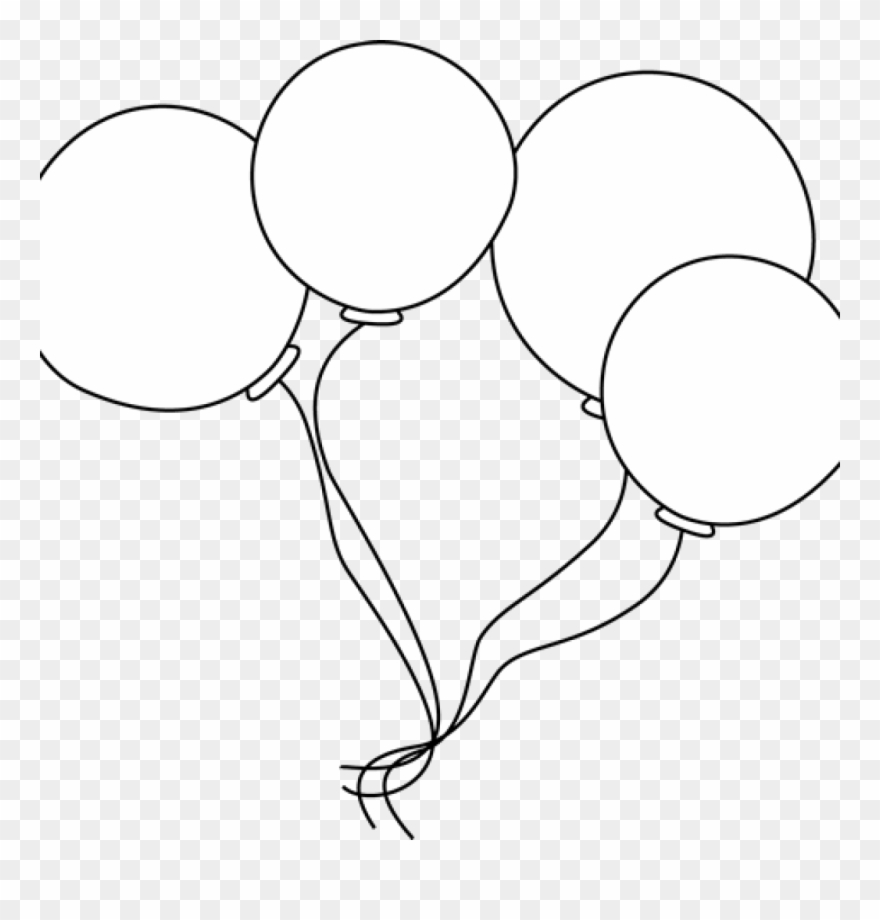 Balloon clipart black and white. Balloons