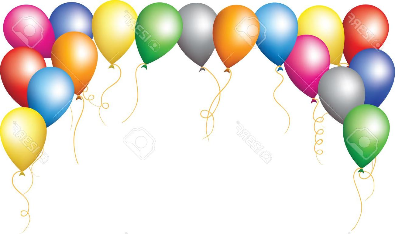 Balloon clipart borders. Birthday border best happy