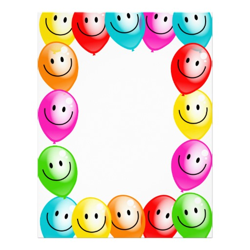 Balloon clipart borders. Border template free download
