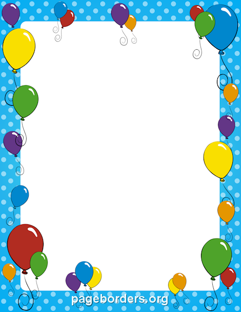 Border stationary pinterest clip. Balloon clipart borders