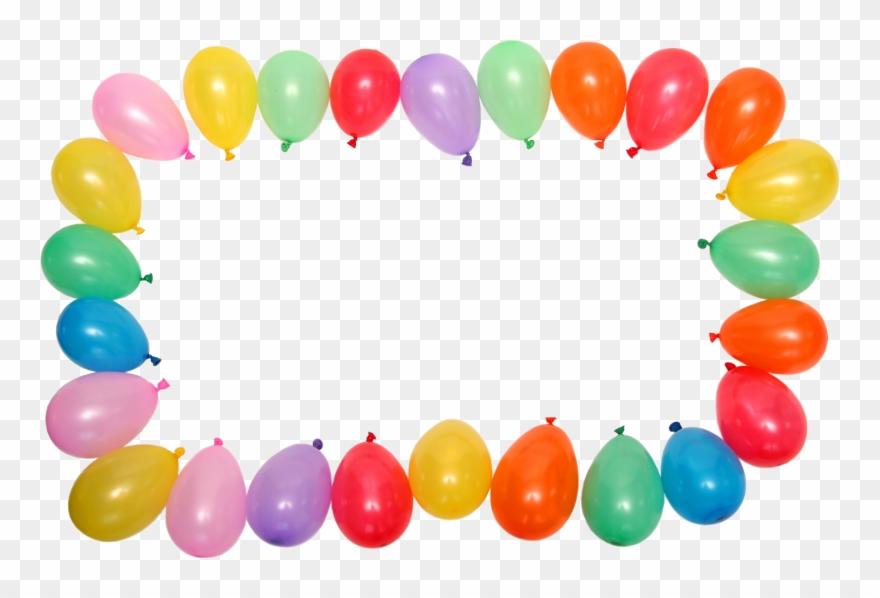 Balloon clipart borders. Birthday border clip art