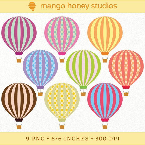 Balloon clipart carnival. Digital hot air clip