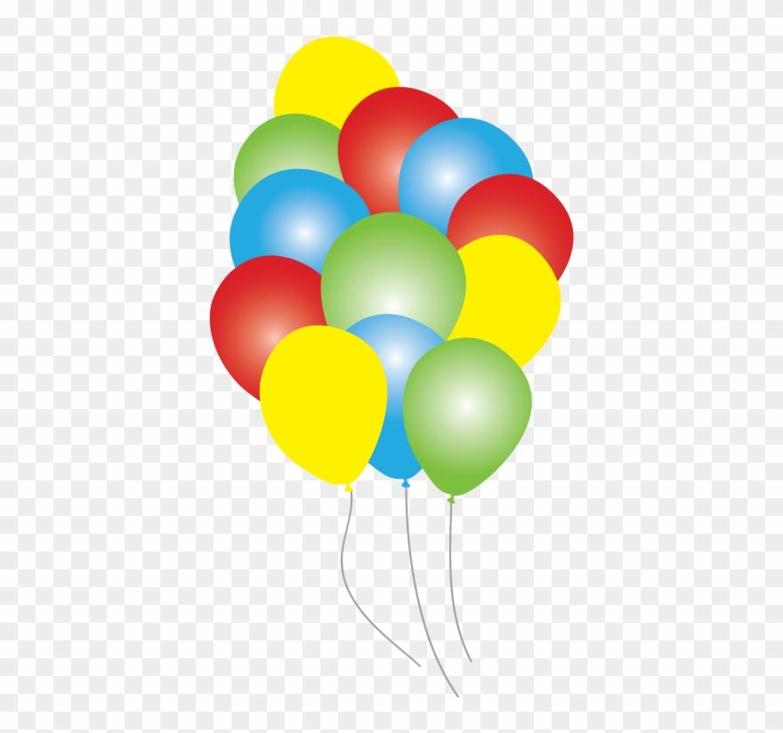 Circus time balloons party. Clipart balloon carnival