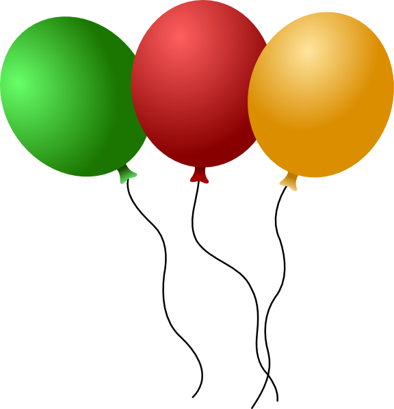 Balloon clipart carnival. New year s eve