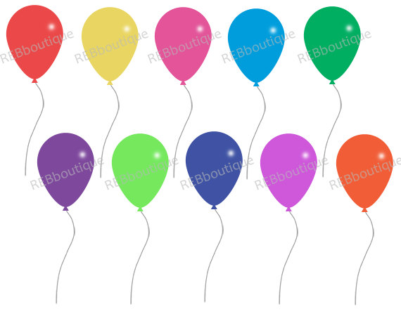 Balloons clip art birthday. Balloon clipart celebration