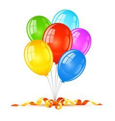 Large transparent balloons picture. Celebrate clipart artwork