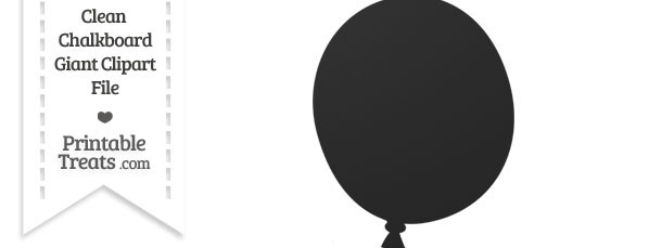 Clean giant printable treats. Balloon clipart chalkboard