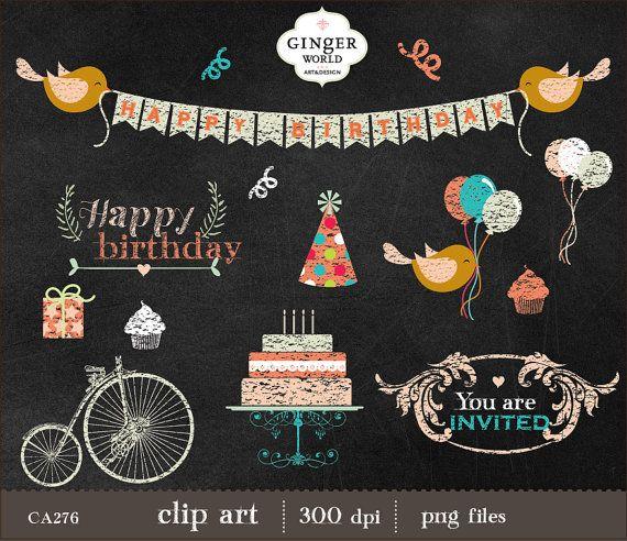 Birthday clip art bicycle. Balloon clipart chalkboard