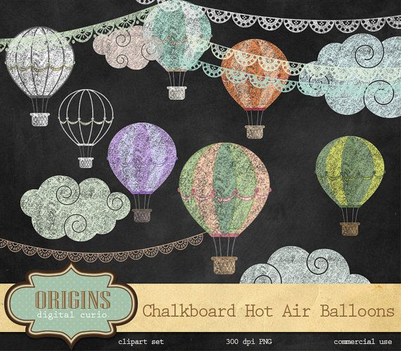 Balloon clipart chalkboard. Hot air balloons png