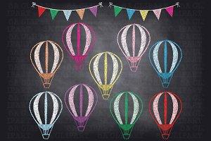 Chalk balloons photos graphics. Balloon clipart chalkboard