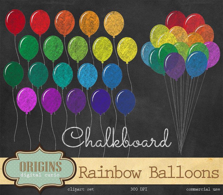 Rainbow balloons illustrations creative. Balloon clipart chalkboard