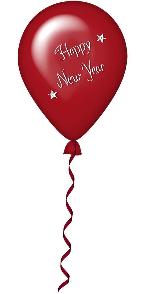 Clipart balloon new years eve. Year red png gallery