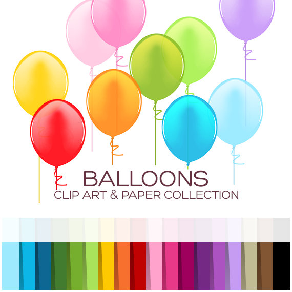 Balloon clipart clip art. Balloons baby birthday printable