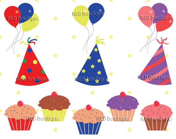 Clip art party hats. Celebration clipart birthday celebration