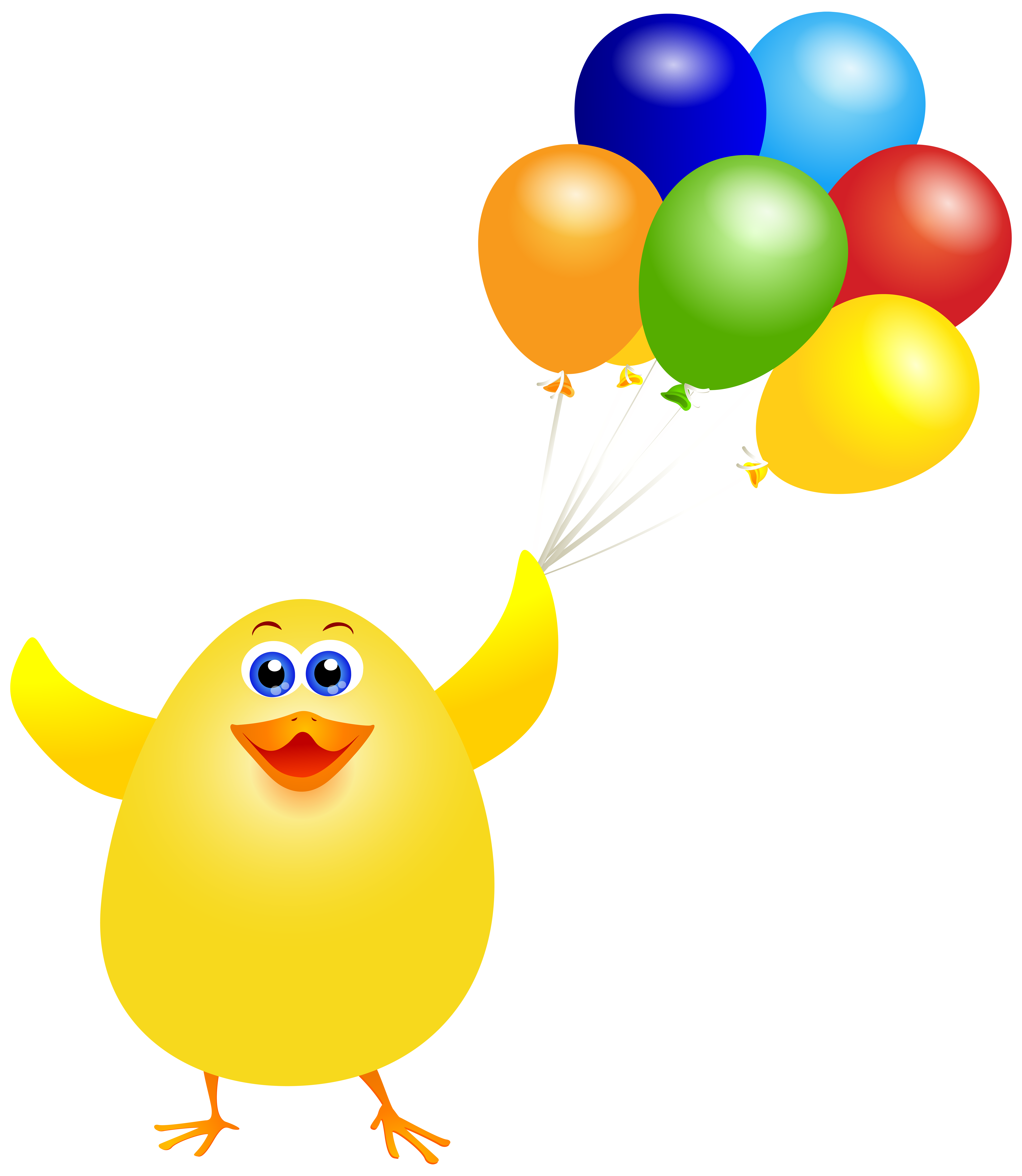 Balloon clipart easter. Chicken with balloons png