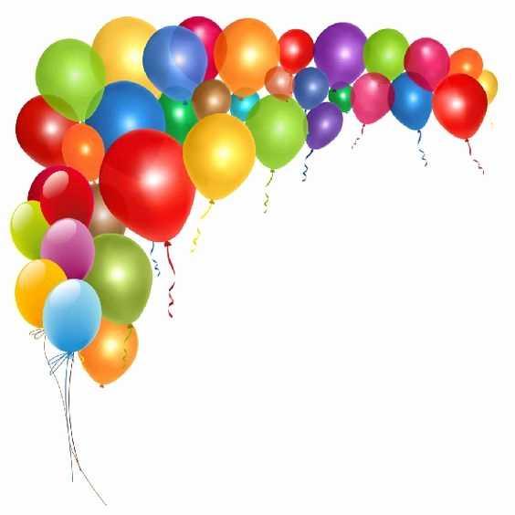 Balloons clipart elegant. Happy birthday balloon images