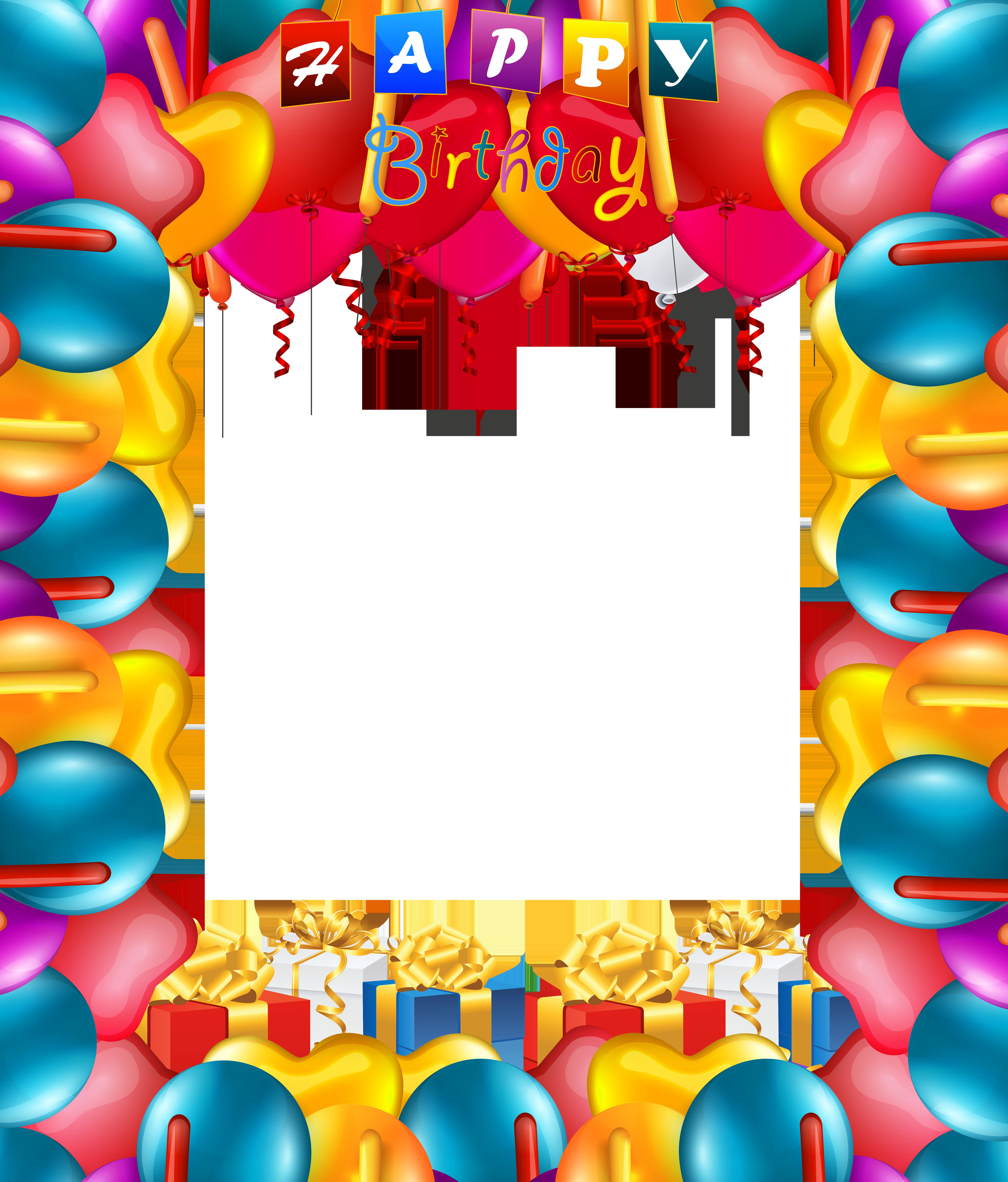 Happy birthday balloons transparent. Balloon clipart frame