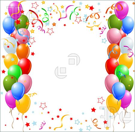 Designs pictures borders. Balloon clipart frame
