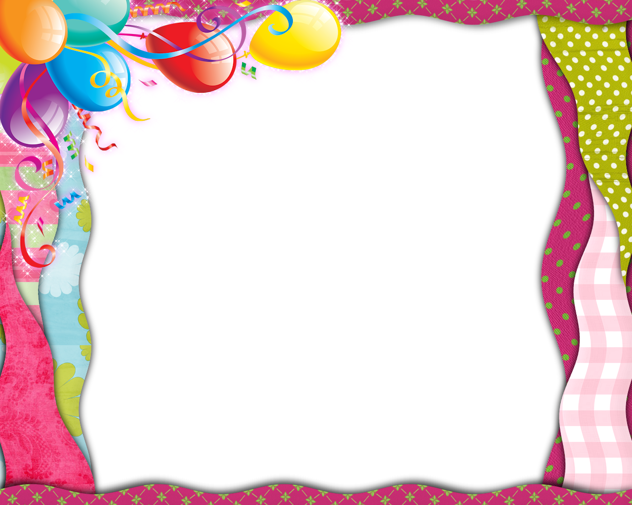 Clipart balloon frame. Pink transparent png with