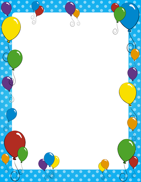 Page border free downloads. Balloon clipart frame