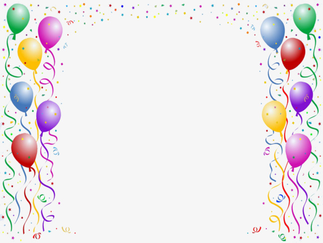 Colorful balloons balloon colored. Celebrate clipart border