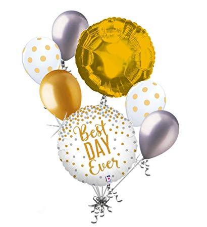 Amazon com pc silver. Clipart balloon gold glitter