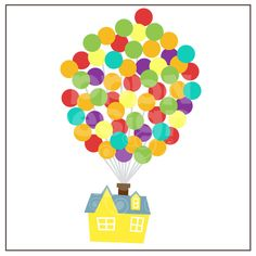 Balloons clipart house. Up clip art pixar