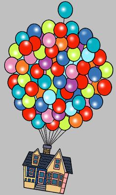 Balloon clipart house.  collection of pixar
